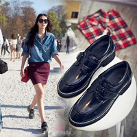 Summer Casual Metal Leather Shoes [4919936004]