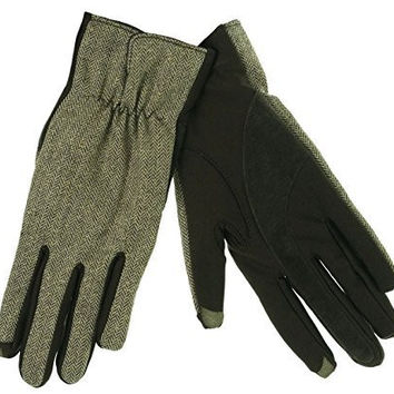 ISOTONER Women's SmartTouch Wool Blend Herringbone Gloves