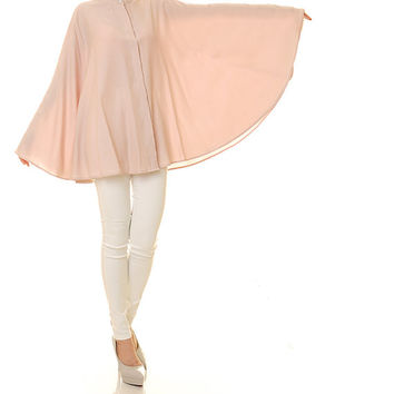 Creamy Beige Kaftan Top Tunic / Poncho Blouse / Batwing Shirt / Long Sleeved Blouse / Plus Size Kaftan Blouse - One Size Fits All (8097)