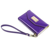 JAVOedge Clutch Wallet Case with Wristlet for Apple iPhone 4s, iPhone 4 (Purple)