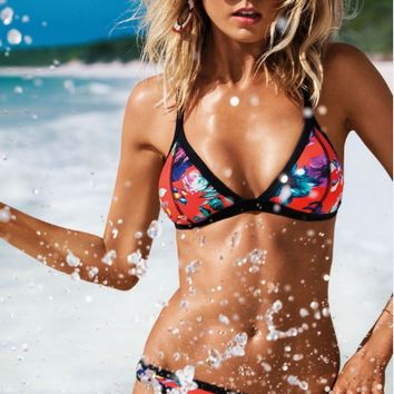 Love Sparkle Triangle Bikini Sets