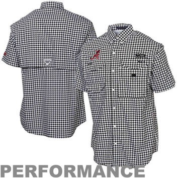 Columbia Alabama Crimson Tide Super Bonehead Button-Down Shirt - Houndstooth