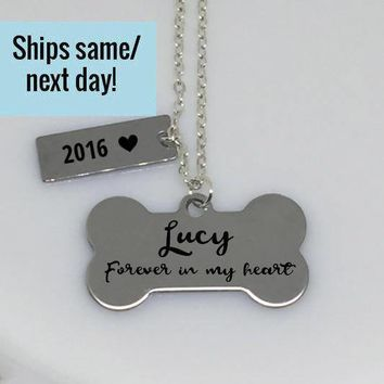 Pet Memorial Necklace, Dog Bone Necklace, Dog Lover Necklace, Pet Loss, Pet Loss Jewelry, Pet Memorial Jewelry, Loss of Pet, Loss of Dog
