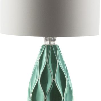 Bethany Modern Table Lamp Teal White