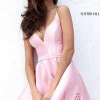 Laser Cut Short A-Line Sherri Hill Dress