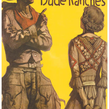Santa Fe Railroad Dude Ranches Travel Poster 11x17