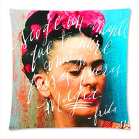 "17"" Frida Kahlo Decorative Throw Pillow Art Covers For Home Decor"