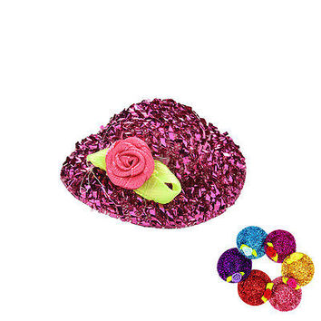 "2 Pcs/lot Fashion Sequin Doll Hat for 11"" Barbies Dolls Color Random HU"
