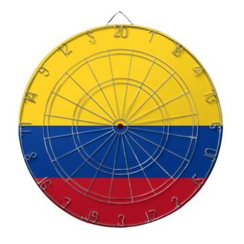 Dartboard with Flag of Colombia