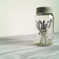 Vintage Mason Jar with Lavender Wedding Decor Photo Prop