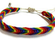 Rainbow Macrame Adjustable Friendship Bracelet