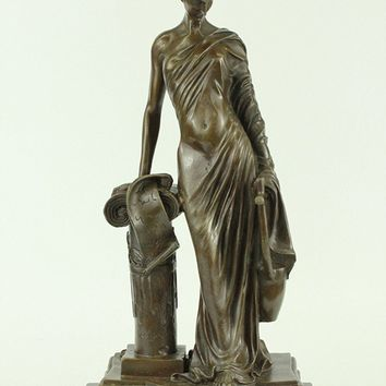 Dino Decarlo Greek Philospher Bronze Sculpture