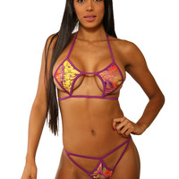 Two Piece Diamond Shaped Bikini Set| Stripper Clothes