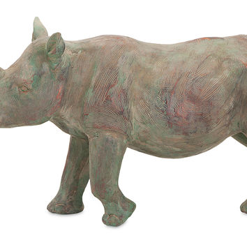 "18"" Senga Rhino Figurine, Gray, Figurines & Animal Figures"