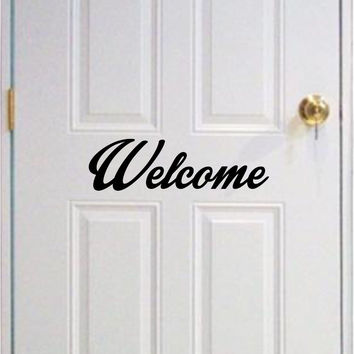 Welcome Decal Sticker Set Wall Vinyl Art Graphic Kid Room Teen Baby Nursery