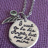 Memorial Jewelry - Memorial Jewelry Dad - I used to be his angel now he's mine - Dad Memorial - Dad Remembrance  -Sympathy Gift - RIP