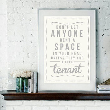 Retro Tenant Quote Giclee Art Print by RockTheCustardPrints