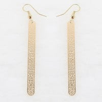 Gold Cut Out Detail Alloy Tablet Earrings