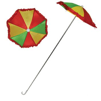 Clown Umbrella W-ruffle Halloween freak show circus carnival props