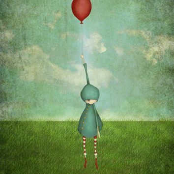 The balloon by majalin on Etsy