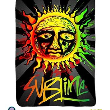 OFFICIAL Sublime Sun Ska Band PREMIUM Warm Fleece Throw Wall Hanging Tapestry Blanket
