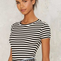 After Party by Nasty Gal Brodie Ribbed Tee