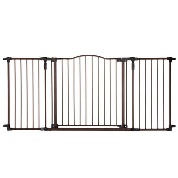 """North States Deluxe D'cor Wall Mounted Pet Gate Matte Bronze 38.3"""" - 72"""" x  30"""""""