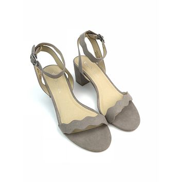 Scalloped Suede Heels - Chinese Laundry