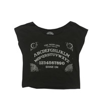 The Moon Life - Cosmic Ouija Crop Top - Black