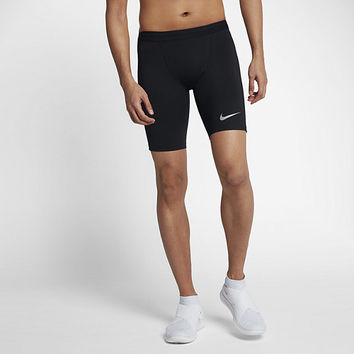 The Nike Tech Men's Half Running Tights.