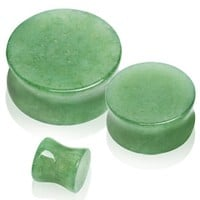 Natural Jade Semi-Precious Stone Saddle Plug by Every Body Jewelry