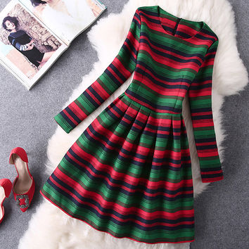 Cupshe Christmas Tree Waisted Dress