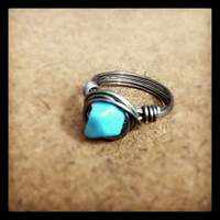 Tribal Wire Wrap Ring- Handmade
