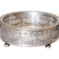 Silver & Glass Wine Coaster