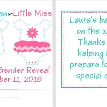 8 Gender Reveal Baby Shower Nail File Favors