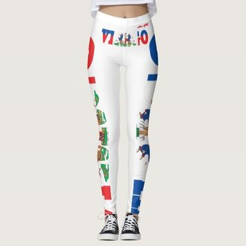 VIRGO LEGGINGS WORD VIRGO INTERTWINED IN HAITIAN F