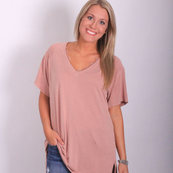 Dearest Mauve Top
