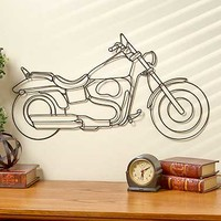 Metal Motorcycle Wall Hanging