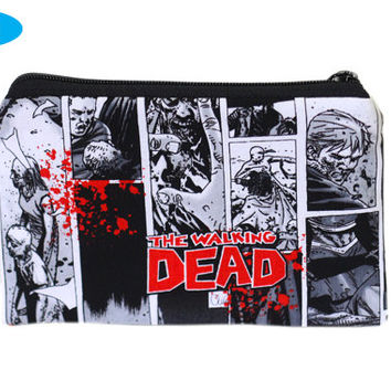 NEW Zipper Bag | Zipper Pouch | Small | The Walking Dead | Zippered Hand Pouch | Zombies