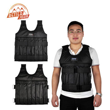 SUTEN 44bls Adjustable Weighted Vests(Empty)With Shoulder Pads Strength Training Weight Jacket Exercise Boxing Sand Clothing