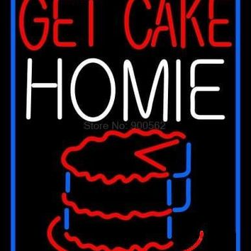 Get Cake Home Neon Sign Real Neon Light