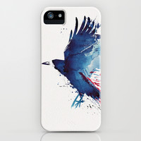Bloody Crow iPhone & iPod Case by Robert Farkas
