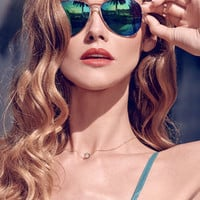 Stun in the Sun Green Aviator Sunglasses