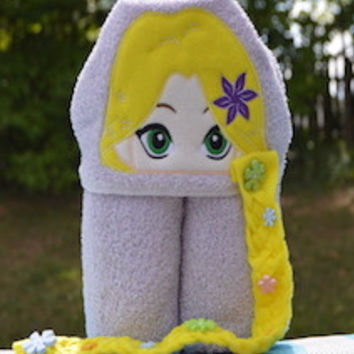 Long Hair Princess Hooded Towel