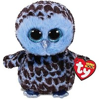 Ty® Beanie Boos Medium Yago Blue Owl Stuffed Animal, 13""