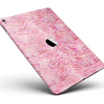 "Pink Watercolor Tiger Pattern Full Body Skin for the iPad Pro (12.9"" or 9.7"" available)"