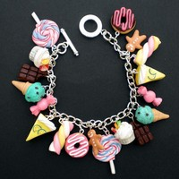 Kawaii Loaded Sweets and Desserts Charm by KooKeeJewellery on Etsy