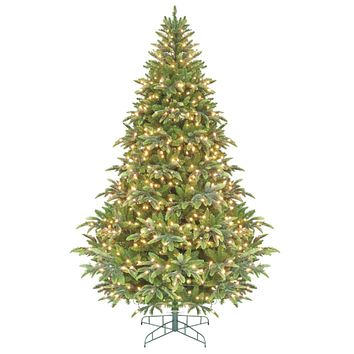 6.5' Pre-Lit Ready Shape Instant Power Cascade IPT Christmas Tree - Clear Lights