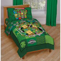 TMNT Teenage Mutant Ninja Turtles 4pc Toddler Bedding Set