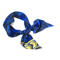 Wide Hair Wrap Purse Scarf Hair Scarf Neck Bow Hair Bow Royal Blue Black Gold Purple Women's Holiday Gift Ready to Ship